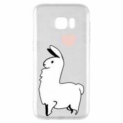 Чохол для Samsung S7 EDGE Alpaca with a heart