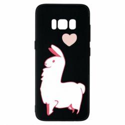 Чохол для Samsung S8 Alpaca with a heart