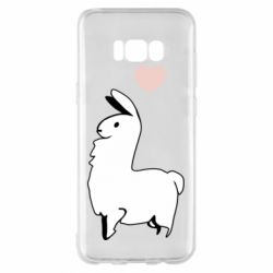 Чохол для Samsung S8+ Alpaca with a heart