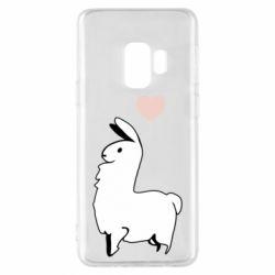 Чохол для Samsung S9 Alpaca with a heart