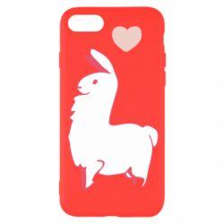 Чохол для iPhone 8 Alpaca with a heart