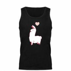 Майка чоловіча Alpaca with a heart