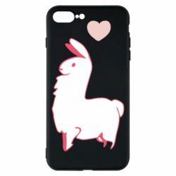 Чохол для iPhone 8 Plus Alpaca with a heart