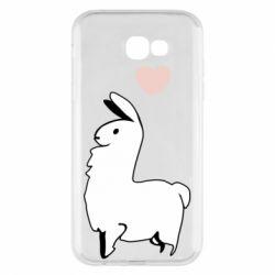 Чохол для Samsung A7 2017 Alpaca with a heart