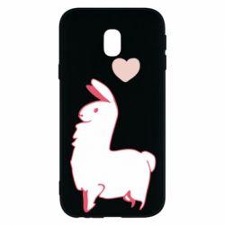 Чохол для Samsung J3 2017 Alpaca with a heart