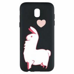 Чохол для Samsung J5 2017 Alpaca with a heart