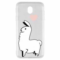 Чохол для Samsung J7 2017 Alpaca with a heart