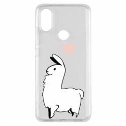 Чехол для Xiaomi Mi A2 Alpaca with a heart