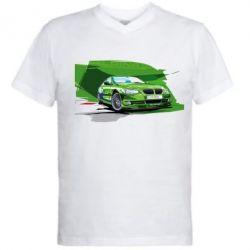 Мужская футболка  с V-образным вырезом Alpina Art - FatLine