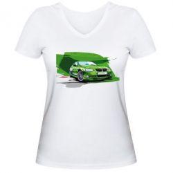 Женская футболка с V-образным вырезом Alpina Art - FatLine