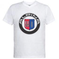 Мужская футболка  с V-образным вырезом Alpina - FatLine