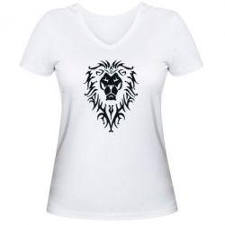 Женская футболка с V-образным вырезом Альянс