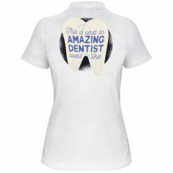 Жіноча футболка поло Amazing Dentist