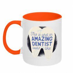 Кружка двоколірна 320ml Amazing Dentist