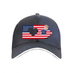 Кепка American flag and president