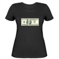Женская футболка Американский Доллар - FatLine