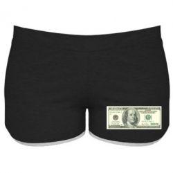 Женские шорты Американский Доллар - FatLine