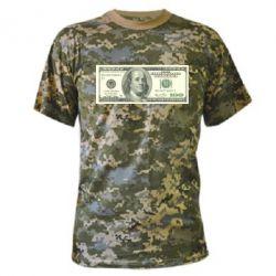 Камуфляжная футболка Американский Доллар - FatLine
