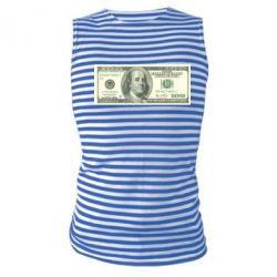 Майка-тельняшка Американский Доллар - FatLine