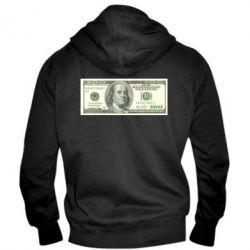 Мужская толстовка на молнии Американский Доллар - FatLine