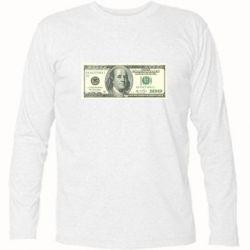Футболка с длинным рукавом Американский Доллар - FatLine