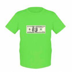 Детская футболка Американский Доллар - FatLine