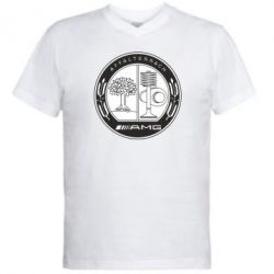Мужская футболка  с V-образным вырезом AMG - FatLine