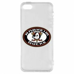 Чехол для iPhone5/5S/SE Anaheim Ducks Logo - FatLine