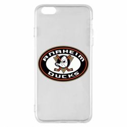 Чехол для iPhone 6 Plus/6S Plus Anaheim Ducks Logo - FatLine