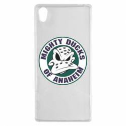 Чехол для Sony Xperia Z5 Anaheim Mighty Ducks Logo - FatLine