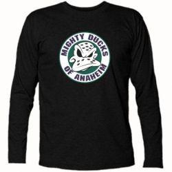 Футболка с длинным рукавом Anaheim Mighty Ducks Logo - FatLine