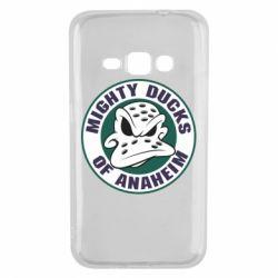 Чехол для Samsung J1 2016 Anaheim Mighty Ducks Logo