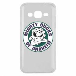 Чехол для Samsung J2 2015 Anaheim Mighty Ducks Logo - FatLine