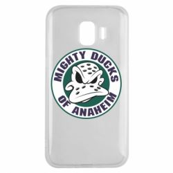 Чехол для Samsung J2 2018 Anaheim Mighty Ducks Logo - FatLine