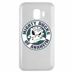 Чехол для Samsung J2 2018 Anaheim Mighty Ducks Logo