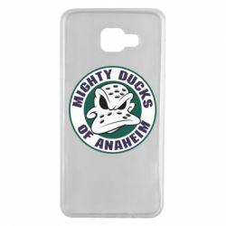 Чехол для Samsung A7 2016 Anaheim Mighty Ducks Logo - FatLine