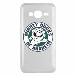 Чехол для Samsung J3 2016 Anaheim Mighty Ducks Logo