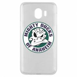 Чехол для Samsung J4 Anaheim Mighty Ducks Logo
