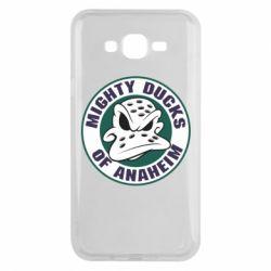 Чехол для Samsung J7 2015 Anaheim Mighty Ducks Logo