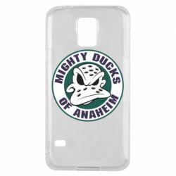 Чехол для Samsung S5 Anaheim Mighty Ducks Logo - FatLine