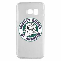 Чехол для Samsung S6 EDGE Anaheim Mighty Ducks Logo