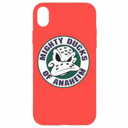 Чехол для iPhone XR Anaheim Mighty Ducks Logo - FatLine