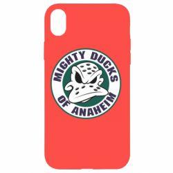 Чехол для iPhone XR Anaheim Mighty Ducks Logo
