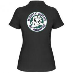 Женская футболка поло Anaheim Mighty Ducks Logo - FatLine