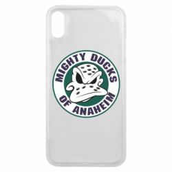 Чехол для iPhone Xs Max Anaheim Mighty Ducks Logo - FatLine
