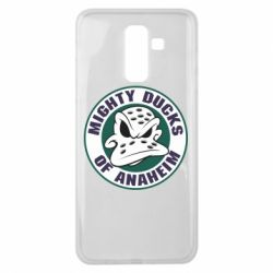 Чехол для Samsung J8 2018 Anaheim Mighty Ducks Logo - FatLine
