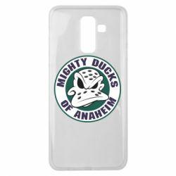 Чехол для Samsung J8 2018 Anaheim Mighty Ducks Logo
