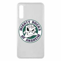 Чехол для Samsung A7 2018 Anaheim Mighty Ducks Logo - FatLine