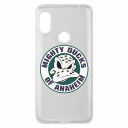 Чехол для Xiaomi Redmi Note 6 Pro Anaheim Mighty Ducks Logo - FatLine
