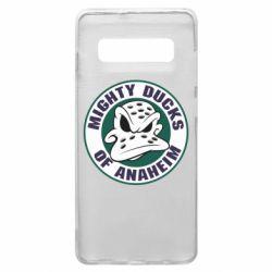 Чехол для Samsung S10+ Anaheim Mighty Ducks Logo